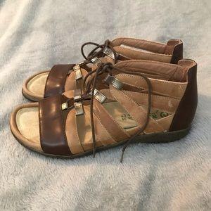 Naot Shoes - NEW NAOT Selo Brown Lace-Up Sandal Comfort Shoe 8
